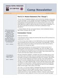 Fire Eaters Newsletter